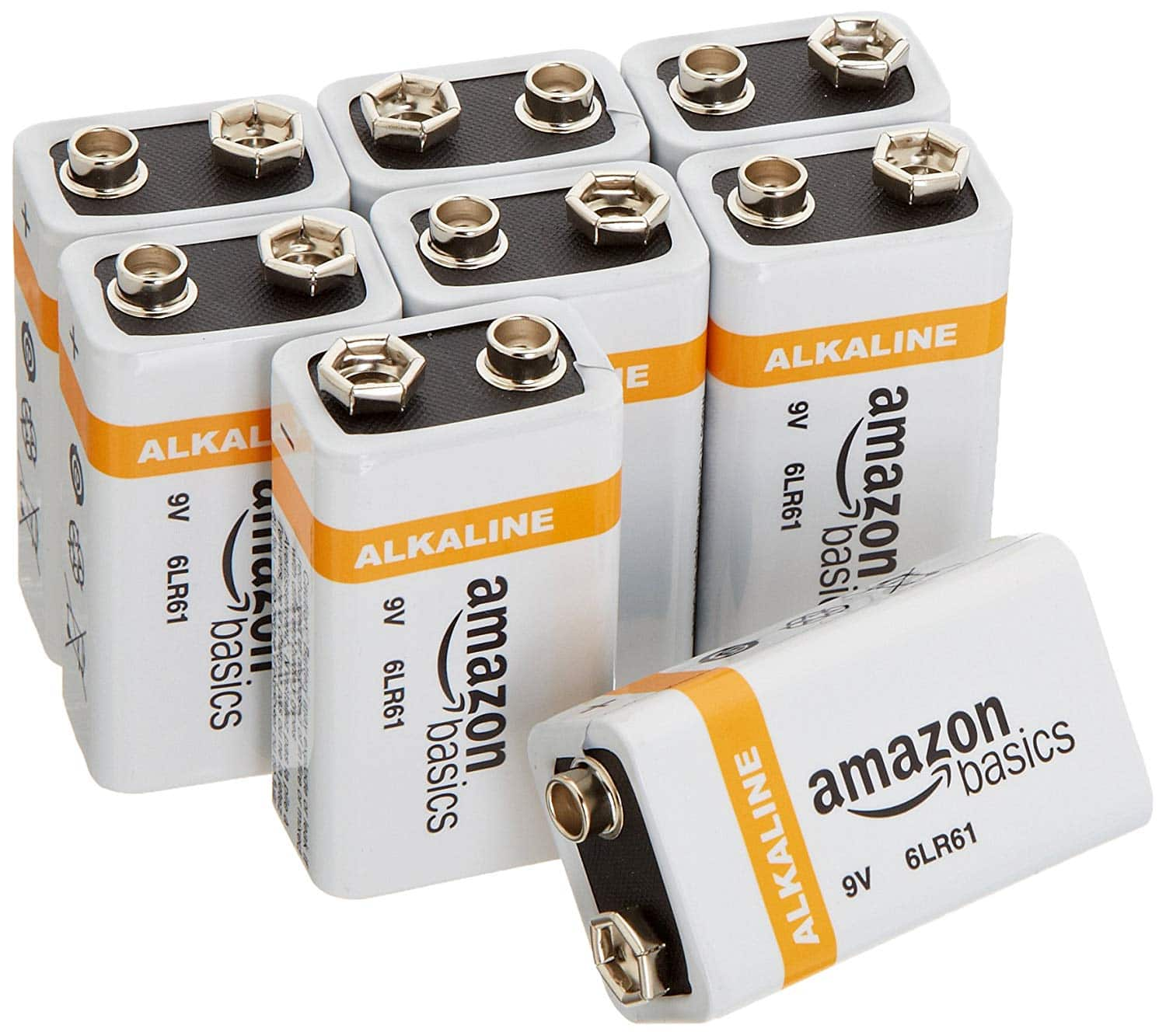 Amazon 8 pack 9v battery: $9.74 - 25% subscribe & save = $7.31