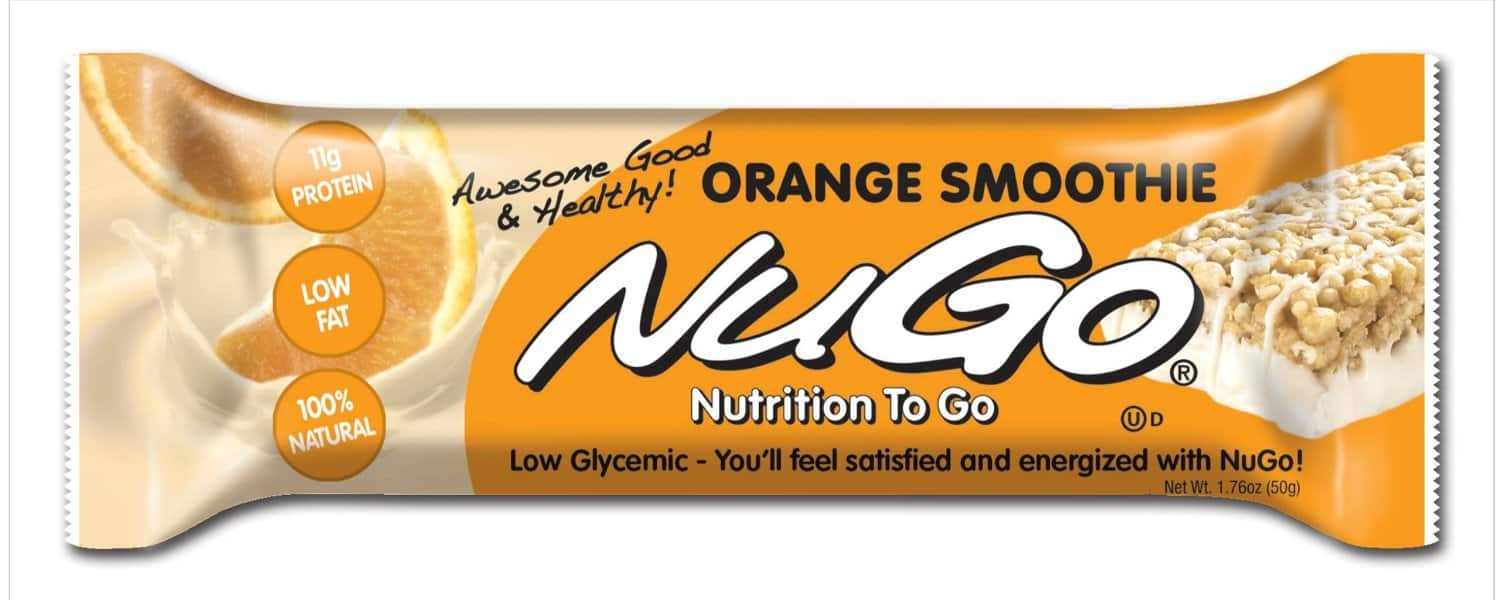 NuGo All-Natural Nutrition Bar, Orange Smoothie, 1.76-Ounce Bars (15 bars) as low as $7.60 w/Subscribe & Save