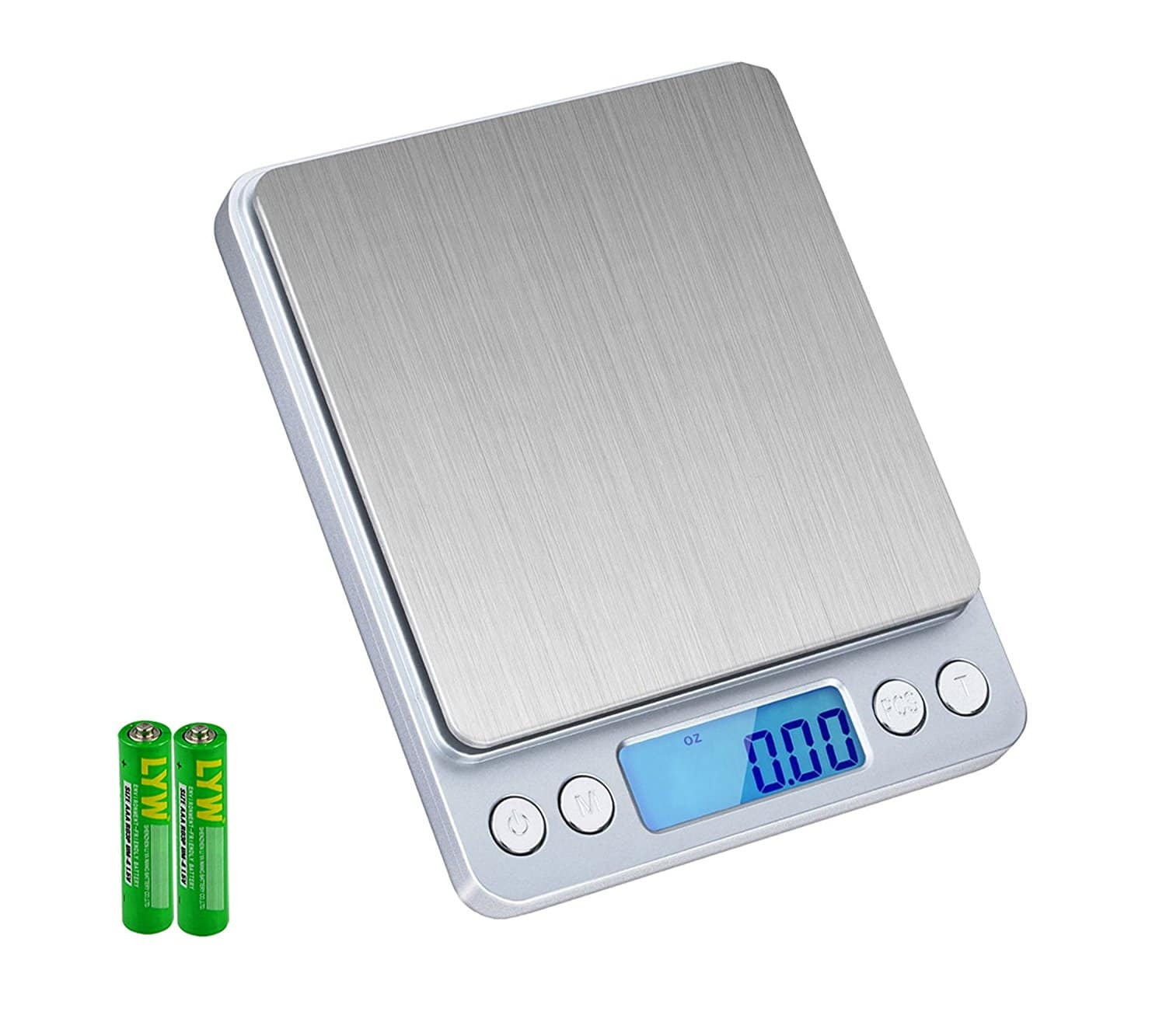 SKYROKU High-precision Digital Food Scale Multifunction Pocket Kitchen Scale with LCD Display 6lb/3kg (Batteries Included) for $7.99