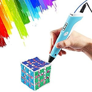 Vcall Upgraded 3D Printing Drawing Pen with LCD Screen with 1.75mm Filaments for $23.99