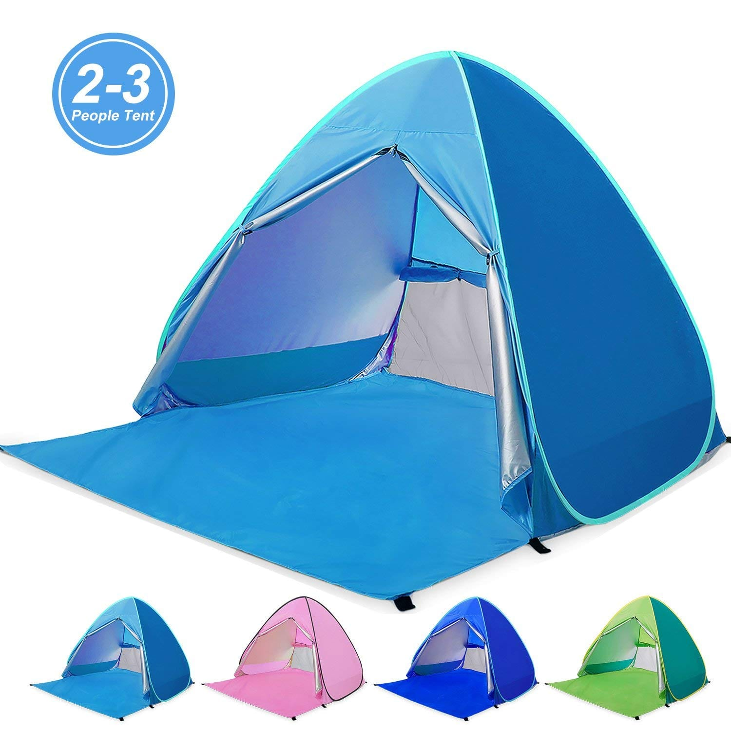 Amagoing Automatic Pop Up Beach Tent 2 3 Person Cabana Sun Shelter Umbrella Great