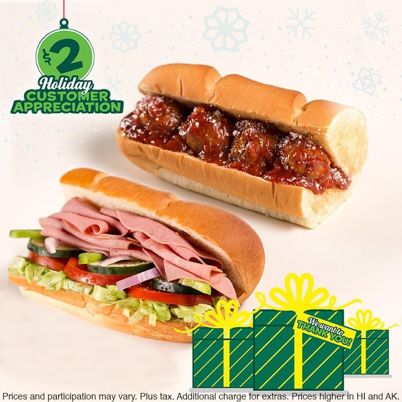"Subway 6""  Meatball Marinara or Cold Cut Combo - $2.00"