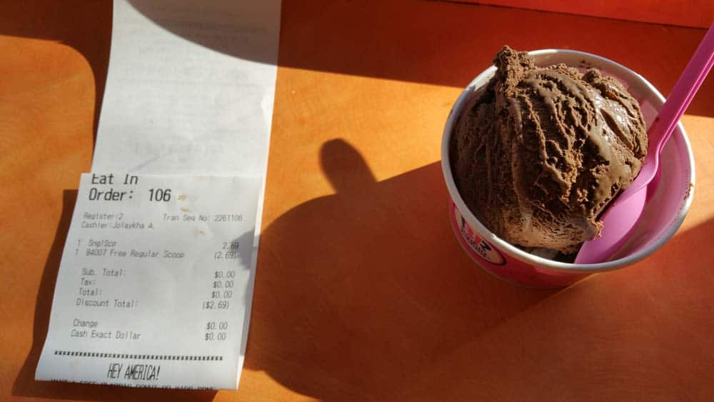 FREE Baskin-Robbins' Ice Cream Scoop For Installing Mobile App