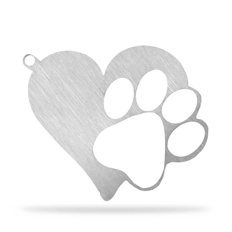 FREE Stainless Steel Heart Paw Keychain