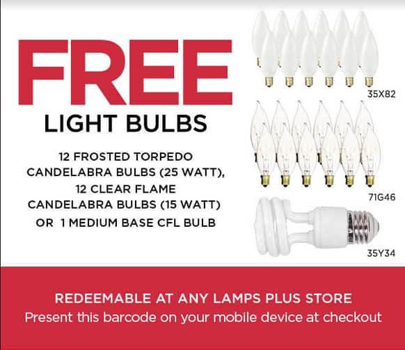 Free Light Bulbs from Lamps Plus