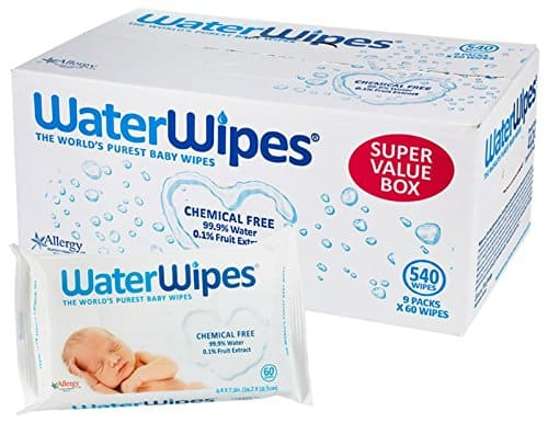 Unscented 9 Packs of 60 Count WaterWipes Sensitive Baby Wipes 540 Count
