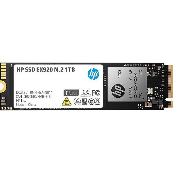 HP EX920 M.2 1TB PCIe 3.0 x4 NVMe 3D TLC NAND Internal Solid State Drive (SSD) 2YY47AA#ABC $299.99