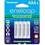 8-Pk Panasonic Eneloop AAA Ni-MH Pre-Charged Rechargeable Batteries  $15
