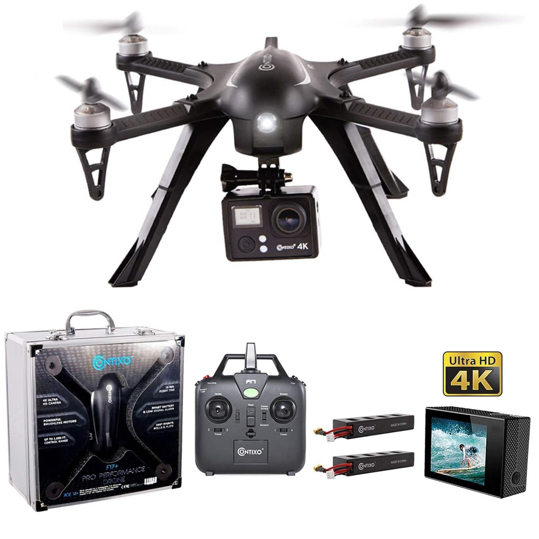 Contixo F17 Quadcopter Drone w/ 4K HD Live Video Camera $140 + Free Shipping