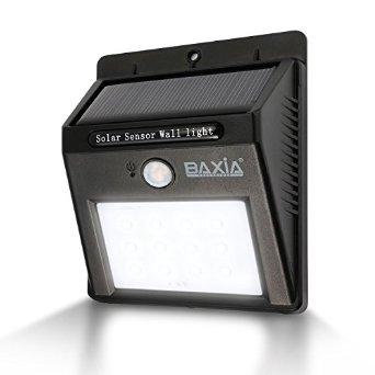 BAXIA TECHNOLOGY Waterproof Wireless Solar Motion Sensor Night Lights [After Code $7.19]