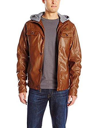 English Laundry Men's leather Jacket for $59.28  (only Large Size) @ Amazon.com $36.51