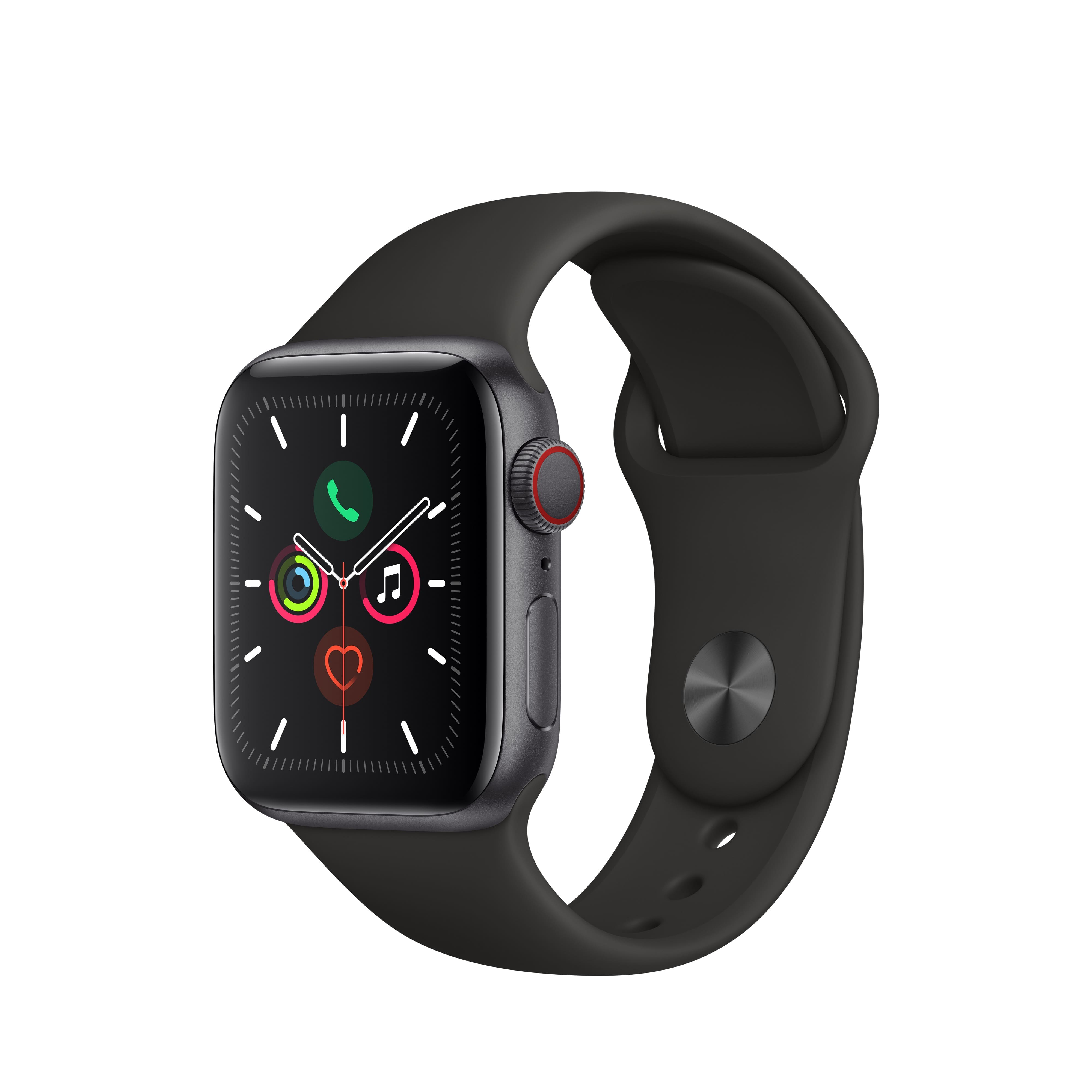 Apple Watch Series 5 GPS, 40mm Space Gray Aluminum Case with Black Sport Band -$384.00 @Walmart
