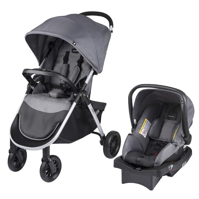 Evenflo Folio Travel System w/ LiteMax Infant Car Seat (Metro Gray ...