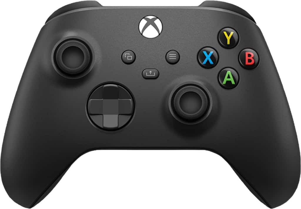 Microsoft Controller for Xbox Series X, Xbox Series S, and Xbox One (Latest Model) Carbon Black QAT-00001 - $49.99