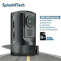 Amazon Deal: $30 OFF Mini 0806 Dashboard Camera Amba A7LA50+OV4689, SplashETech Dvr Car Camera W/ GPS Logger + MLC TF Card [Full HD 1296P] $99.99AC@ Amazon.com