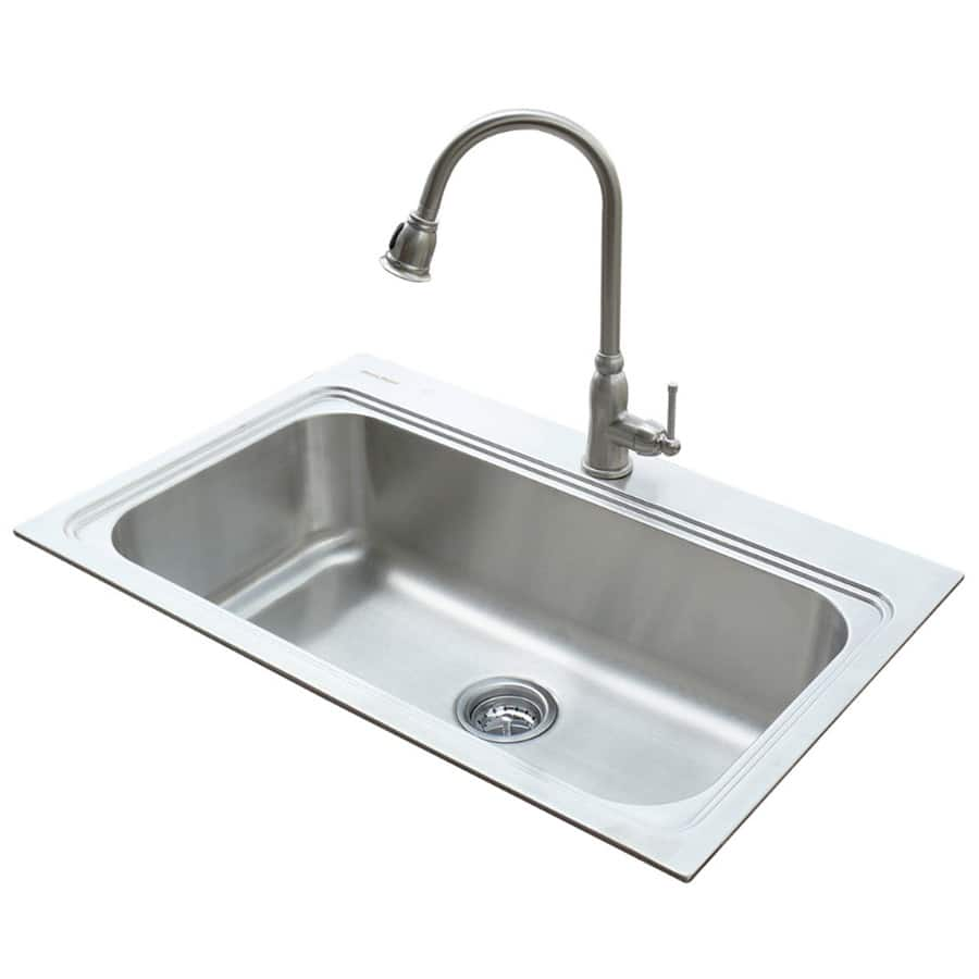 Lowes Stainless Steel Single Basin Sink And Faucet