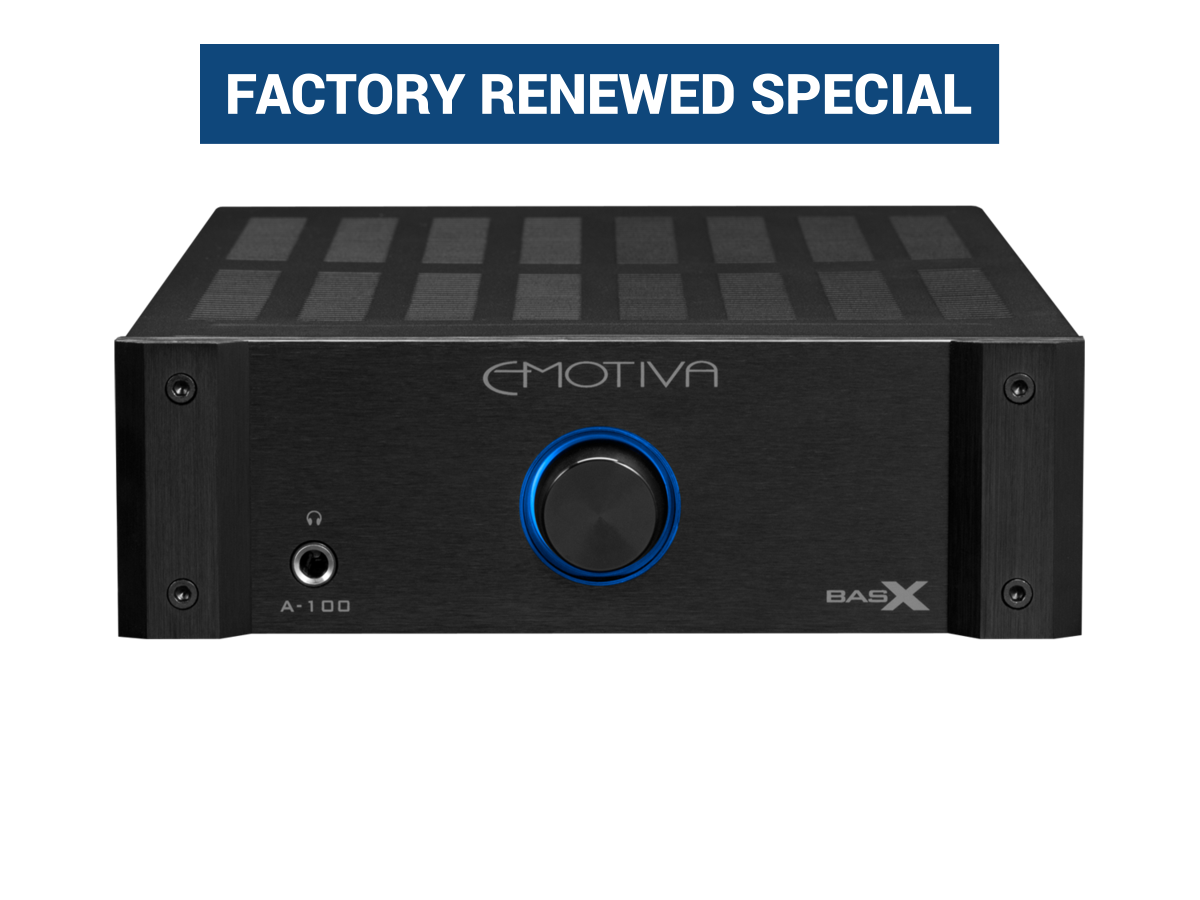 Emotiva BasX A-100 Stereo Amplifier (factory renewed) $179