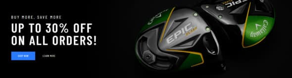 Callaway Golf Preowned: 10% off $100+, 20% off $200+, 30% off $300+