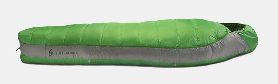 Sierra Designs Zissou / Eleanor Sleeping Bag with WaterProof DOWN $119.99