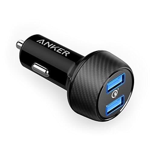 Anker Quick Charge 3.0 39W Dual USB Car Charger, PowerDrive Speed 2 for Galaxy S7 / S6 / Edge / Plus, and PowerIQ for iPhone X / 8 / 7 / 6s / Plus, iPad Pro / Air 2 $18.74
