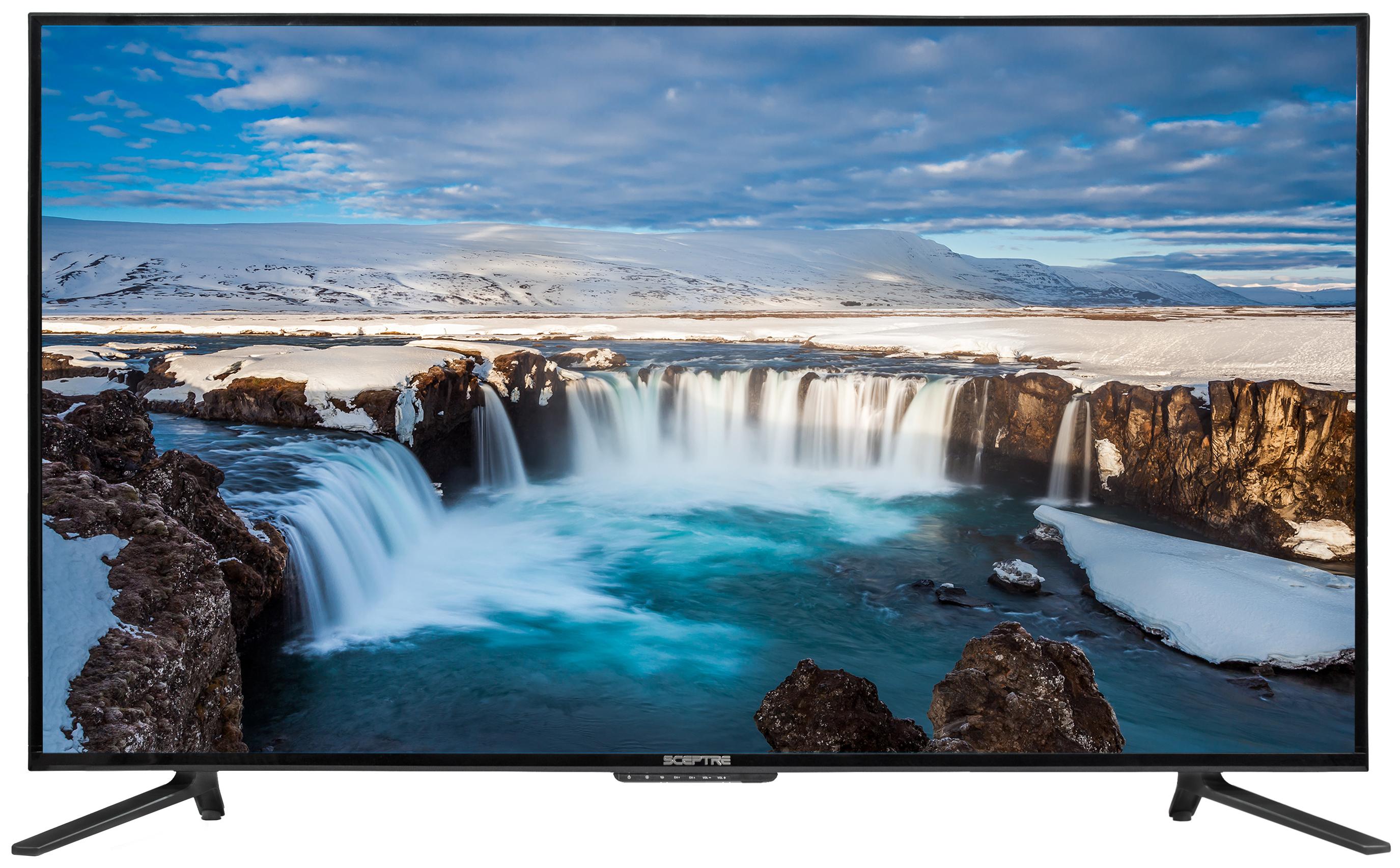 """Sceptre 55"""" Class 4K Ultra HD (2160P) LED TV (U550CV-U) $229.99"""
