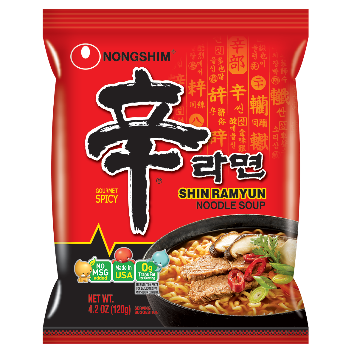 6x Nongshim, Shin Ramyun, 4.2 oz. (Pack of 10) for $35.16 ($5.86/10 pack) After Coupon at Jet.com