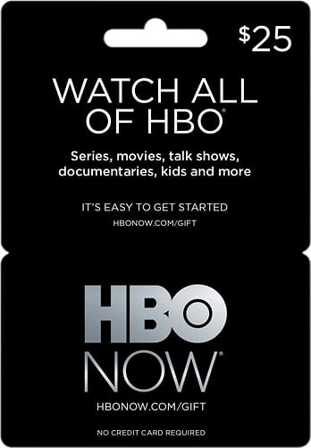 20% off HBO NOW gift card. $20