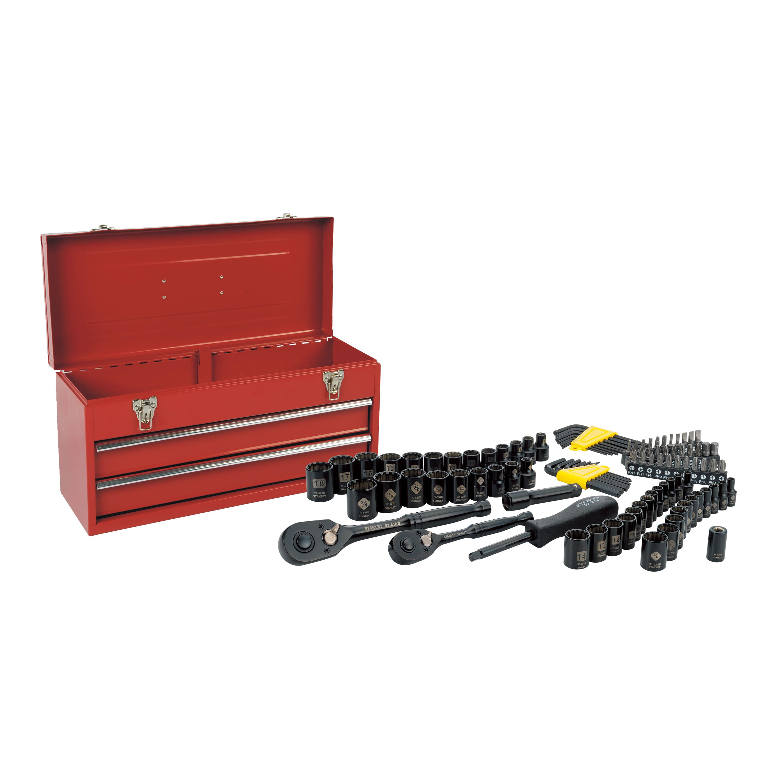 $30/$50 - Stanley Black Chrome 101-Piece Metal Toolbox