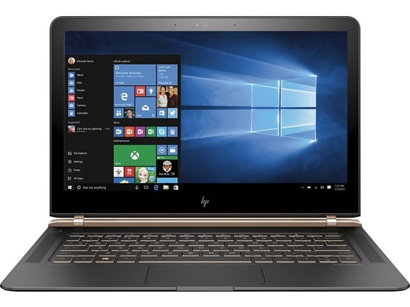 "Refurbished HP Spectre 13-v111dx 13.3"" Full-HD Laptop, Intel Core i7-7500U 2.7GHz, 256GB PCIe Solid State Drive, 8GB DDR3, 802.11ac, Bluetooth, Win10H $850"