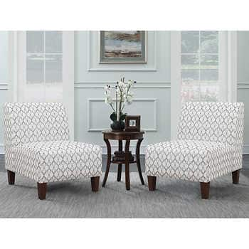 Ave Six 3-piece Fabric Chair and Table Set $299.99