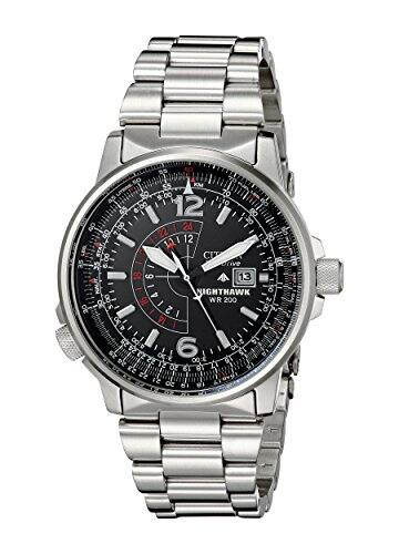 Citizen Men's BJ7000-52E Nighthawk Stainless Steel Eco-Drive Watch $199.26 on Amazon