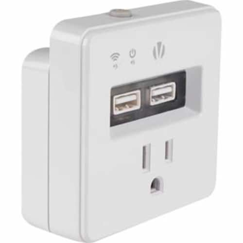 Vivitar Wifi Smart Plug with USB Outlet/Switch $13.59