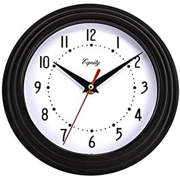 Equity by La Crosse 25013 8 Inch Black Clock for $0.9 + FS