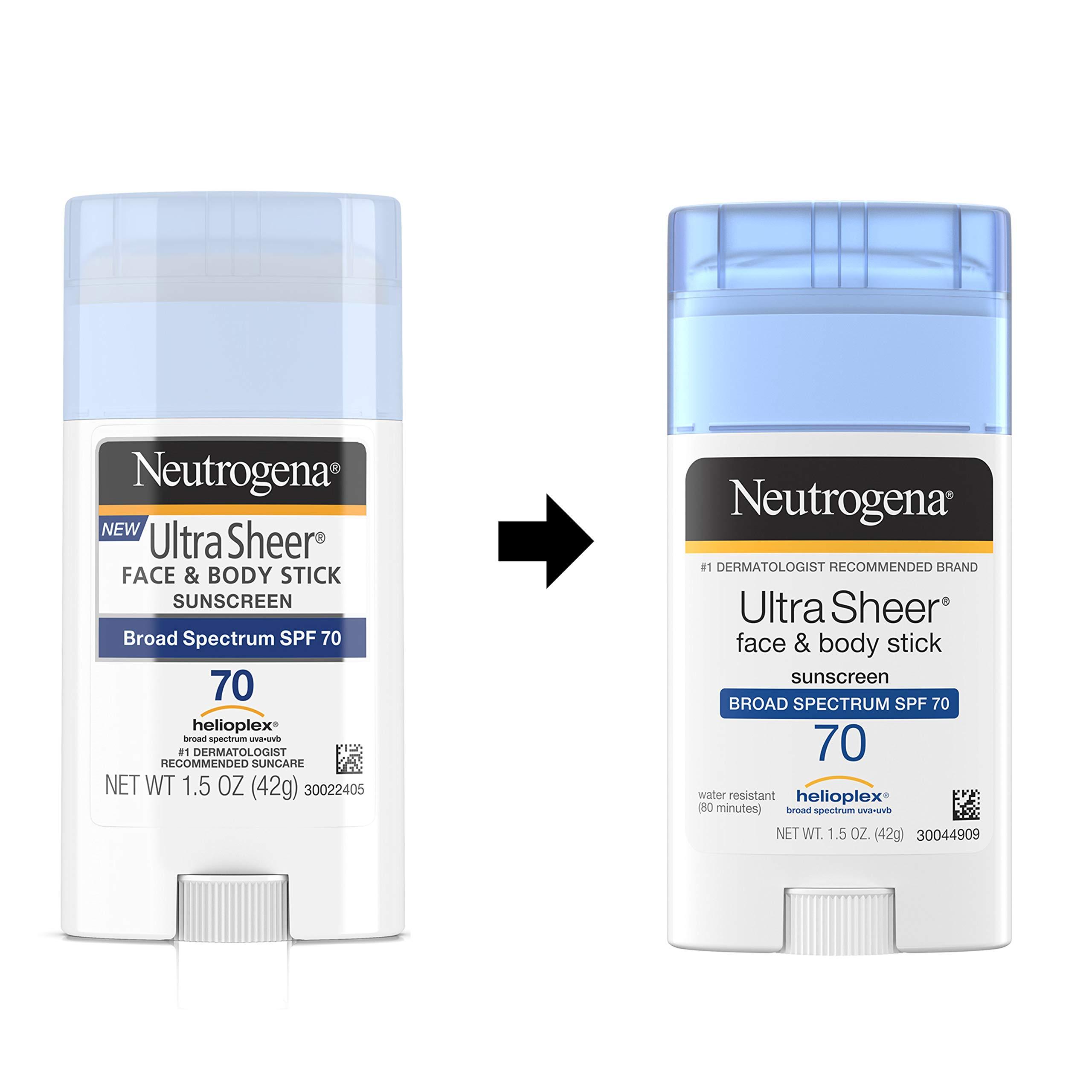 Neutrogena Ultra Sheer Non-Greasy Sunscreen Stick - 2 for $9 at Amazon