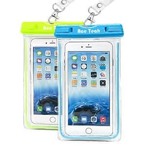 2-Pack Waterproof Phone Case - phone/cc/id $7.99, free shipping with Amazon Prime