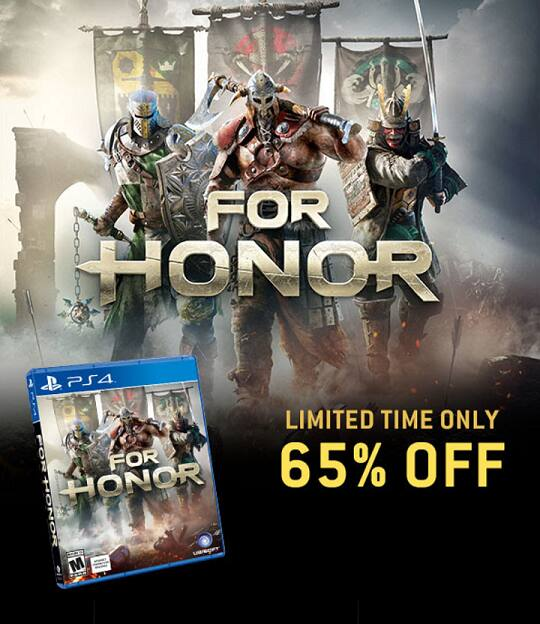 For Honor for up to 70% on digital platforms for PS4 & Xbox One $19.79