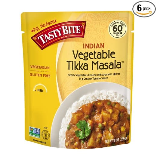 Tasty Bite Indian Entrée, Vegetable Tikka Masala - Addon $3.30 - Pack of 6 :