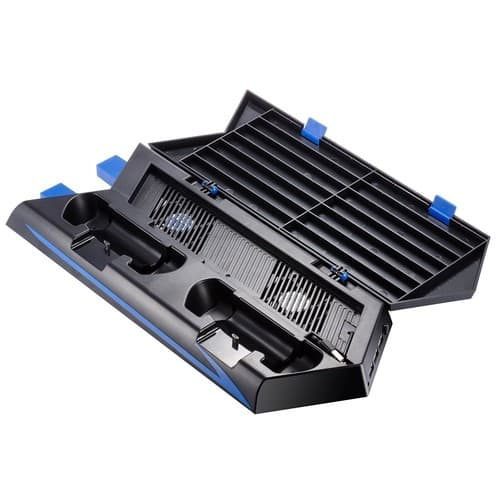 PS4 Vertical Stand Cooling Fan Dual Charging Station for $9.87