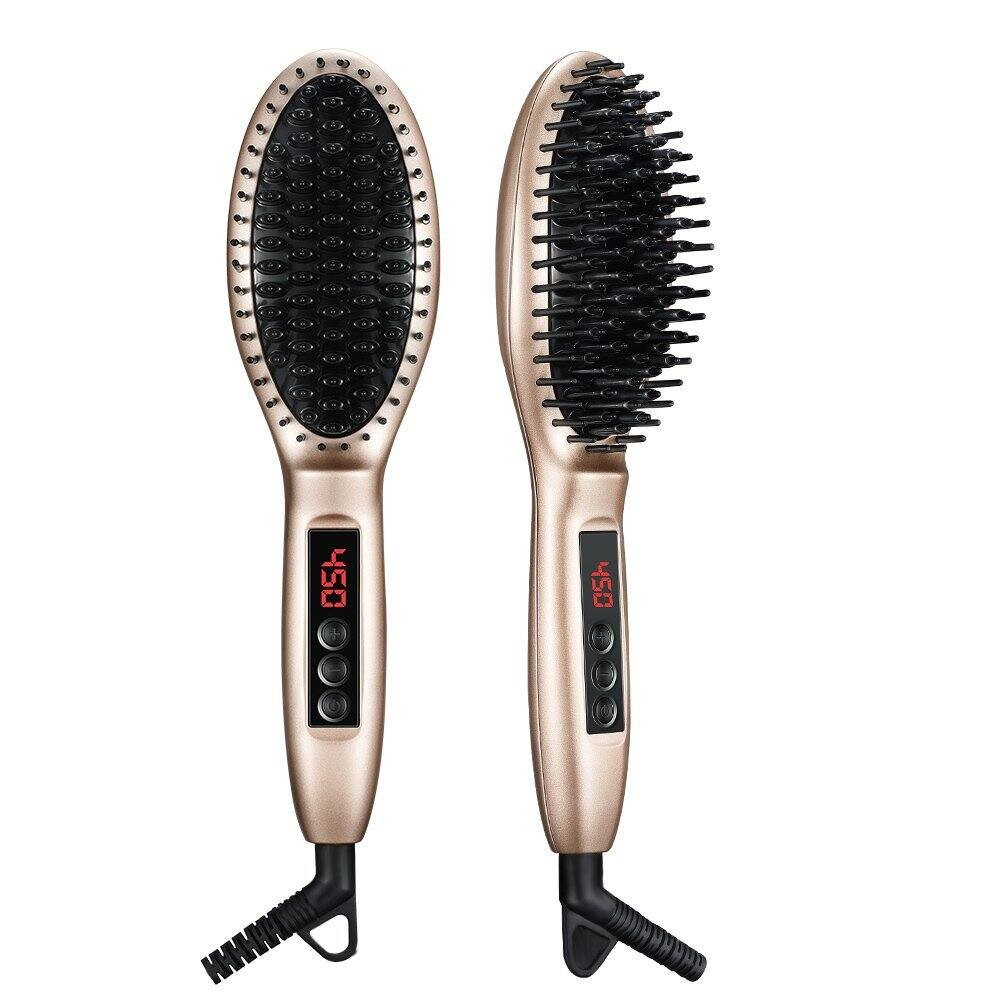 Ellesye Professional Hair Straightener Brush-$15.99 w/code+free shipping