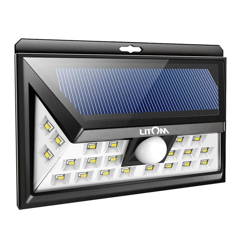 Litom Wide Angle Solar Lights Outdoor Security Lights $14.81@Amazon