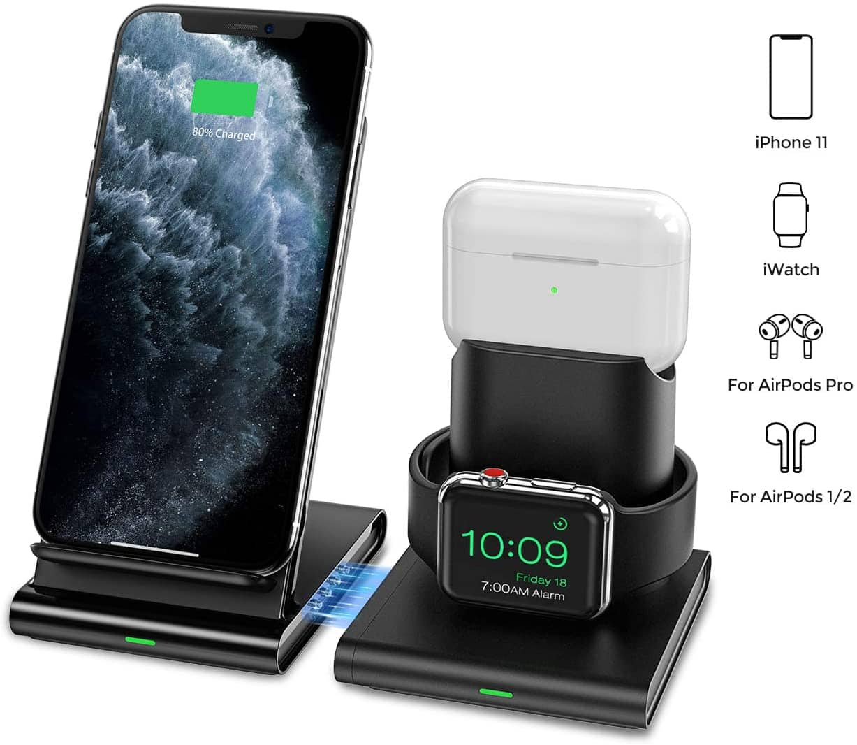 Seneo 3 in 1 Wireless Charging Station for $19.99