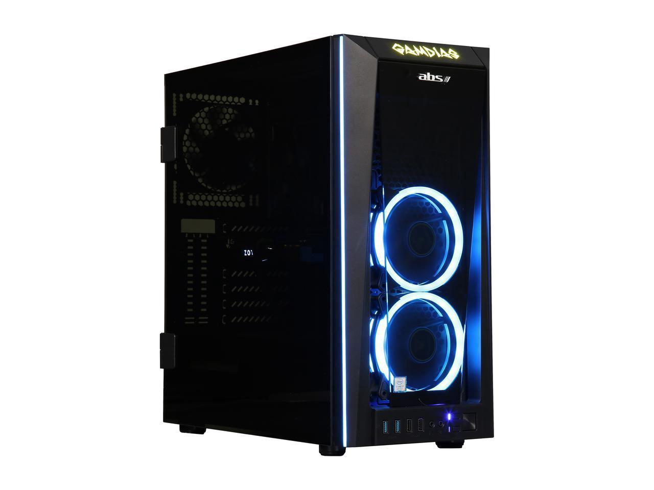 Abs Gaming Desktop PC NVIDIA GeForce GTX 1070 Ti 8 GB Intel Core i7-8700 (3.20 GHz) 6-Core 16 GB DDR4 240 GB SSD 1 TB HDD Windows 10 Home 64-Bit ALI249 $1050