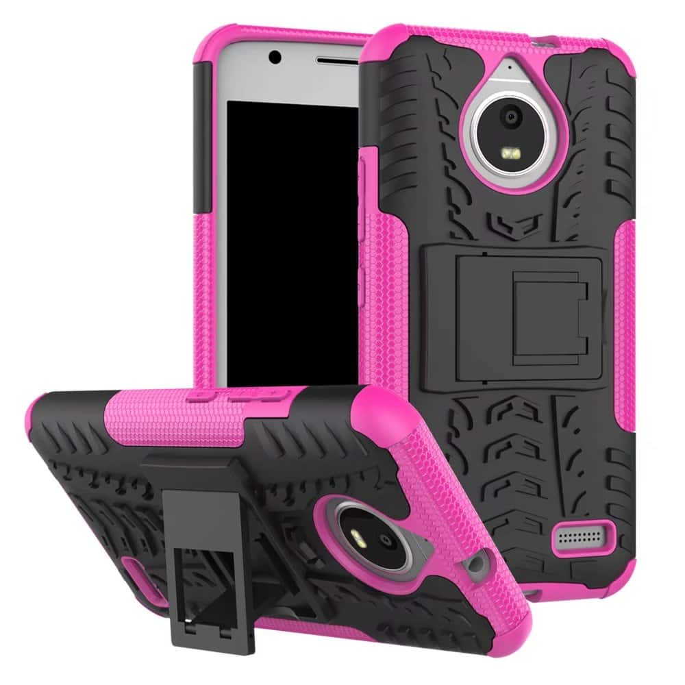 Hybrid Rugged Impact Kickstand Armor Hard Phone Cover Case For Motorola Moto E4 $1.69