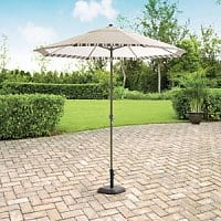 Walmart Deal: Mainstays Warner Heights 8' Market Umbrella with crank and tilt controls $24