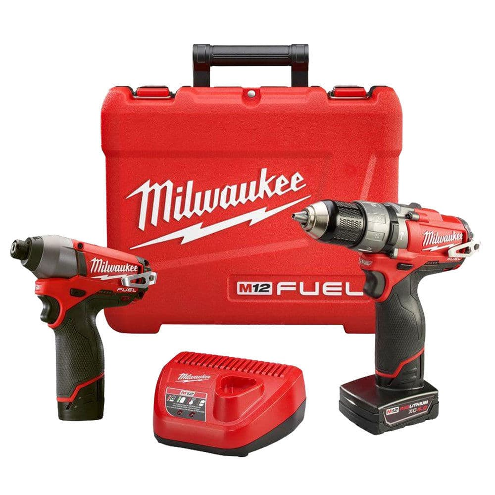 M12 FUEL Hammer Drill Impact Combo Kit Milwaukee 2597-22 New $149.99