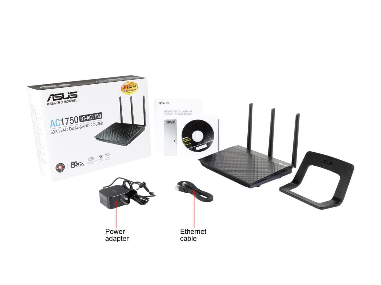 ASUS RT-AC1750 802.11ac Dual-Band Wireless-AC1750 Gigabit Router $59.99 After Rebate