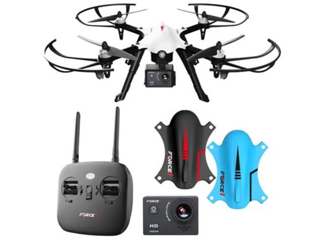 Force1 F100 Ghost RC Camera 1080P Brushless Quadcopter Drone $99.99