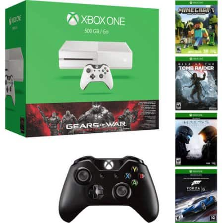500GB White Gears Xbox One Bundle + 2nd Controller + Minecraft + 1 Choice of Game ($279)