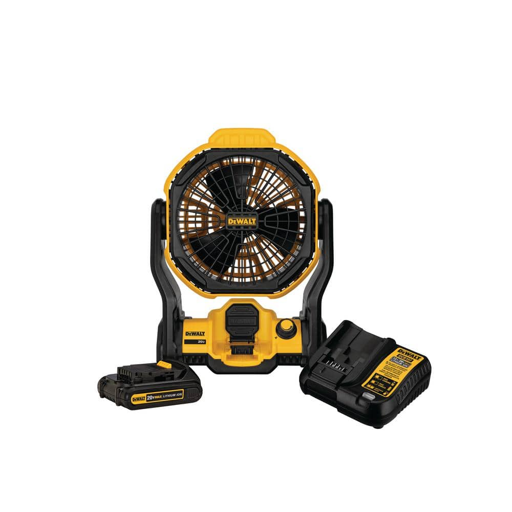 [YMMV] 20 20-Volt Max Jobsite Fan Kit with 1.5 Ah Battery and Charger volt Max DeWalt jobsite fan with battery and charger - $50.04