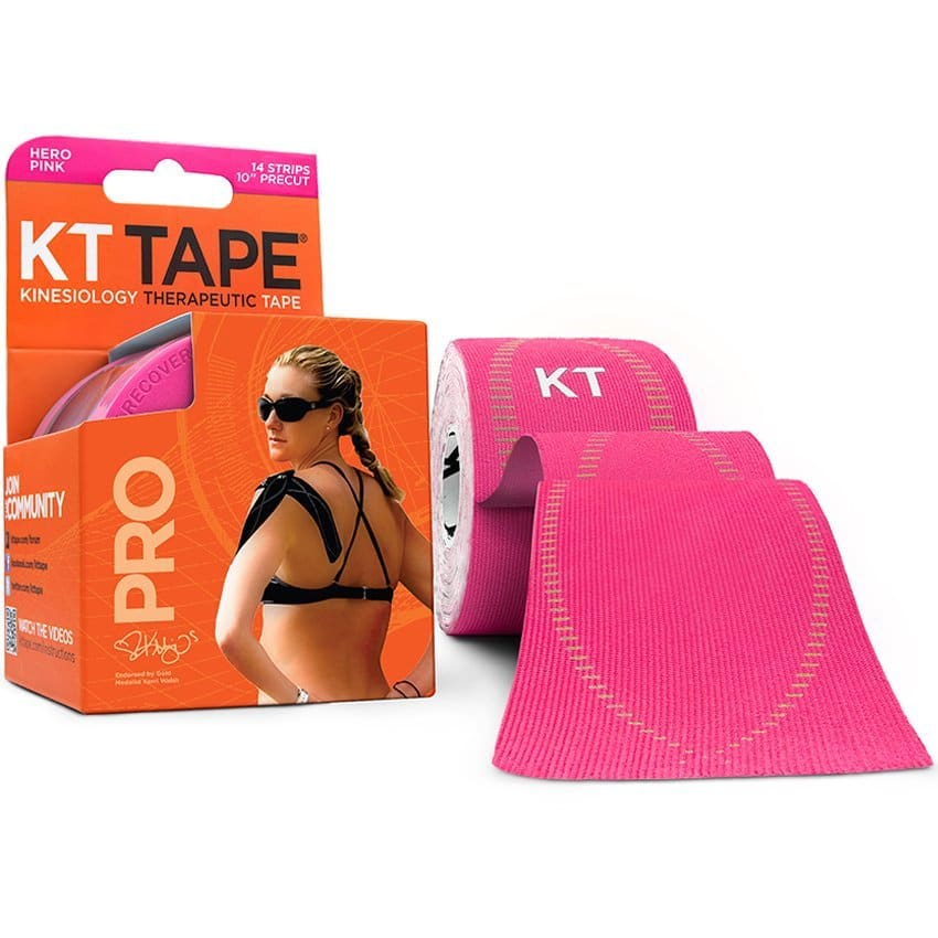 Pink KT TAPE PRO Kinesiology Sports Tape, 20 Precut 10 Inch Strips $7 Amazon Prime with clipped coupon